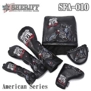 シェリフ SFA-010 アメリカンシリーズ DR/FW/UT/IR/PT用 ヘッドカバー BLACK American Series SHERIFF 2018|full-shot