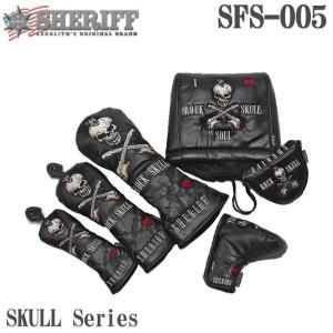 シェリフ SFS-005HC スカルシリーズ DR/FW/UT/IR/PT用 ヘッドカバー SKULL Series SHERIFF tpup 2018 数量限定/特別価格|full-shot