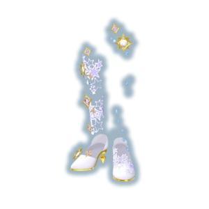 キラッとプリ☆チャン/PCH5-06 シャイニースターホワイトシューズ PR|fullahead