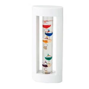 【送料無料】茶谷産業 Fun Science ファンサイエンス ガラスフロート温度計S(ホワイト) 333-205(北海道・沖縄・離島は別料金)|fullcolor-print