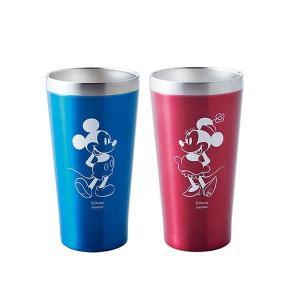 【送料無料】Disney(ディズニー) ミッキー&ミニー ペアメタルサーモタンブラー (真空断熱二重構造) 340ml D-MF41 51379(北海道・沖縄・離島は別料金)|fullcolor-print