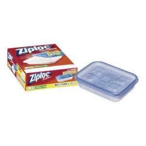 ジップロックのご飯の冷凍保存用コンテナー。ムラなく加熱でき、凹凸形状でご飯がべたつきません。  商品...
