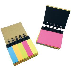 多色、2サイズの付箋が6層に分かれ、様々な用途に使え携帯にも便利  ■商品サイズ:82(リング含)×...