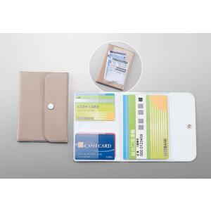 通帳2冊、カード4枚収納可能  商品サイズ; 151×105×10mm 包装形態・サイズ ; 袋入り...