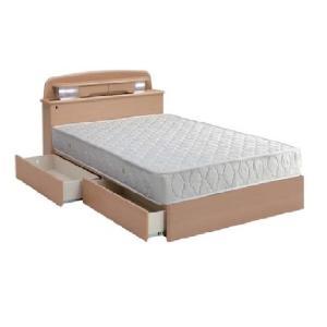 ベッド セミダブル セミダブルベッド マット付き 照明 棚付き|fullfullshp