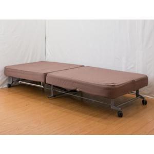 【送料無料】折りたたみベッド◆収納ベッド簡易◆完成品 BR(B577)|fullfullshp
