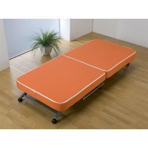【送料無料】折りたたみベッド◆収納ベッド簡易◆完成品 OR(B578)|fullfullshp