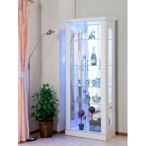 【送料無料】62巾コレクションケース クイーン ホワイト色(KM) フィギュアケース 飾り棚 LED照明付き|fullfullshp