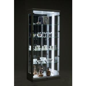 【送料無料】LED照明付70コレクションケースH155 ブラウン色  キュリオ 飾り棚|fullfullshp