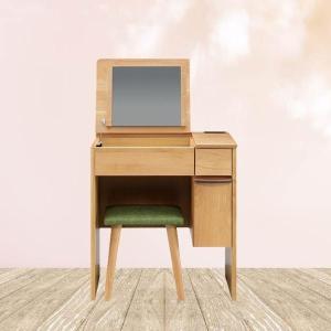 【送料無料】ドレッサー 鏡台 化粧台 一面鏡 椅子付 カントリー 幅65cm オイル塗装