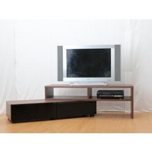 【送料無料】120-198巾伸長式テレビボード◆リビングボード ブラウン 組立家具 fullfullshp