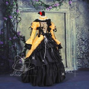 鏡音リン 悪ノ娘 宮殿ドレス コスプレ衣装 パニエ付き Vocaloid風 鏡音リン 悪ノ娘 宮殿ドレス コスプレ衣装|fullgrace
