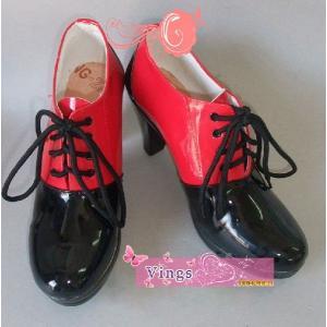 コスプレ靴 グレル・サトクリフ コスプレブーツ 黒執事 赤い コスプレ衣装にab011f0|fullgrace