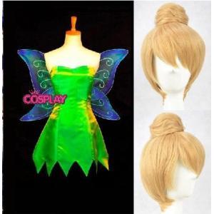 コスプレ衣装 ウイッグ付き Tinker Bell ディズニー ティンカーベル コスプレ衣装 翼付き|fullgrace