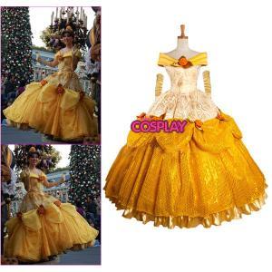 コスプレ衣装 美人と野獣 ベル ウィッグ ディズニー コスプレ衣装 ディズニー Belle ドレス|fullgrace