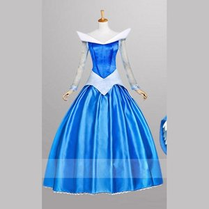 エル・ファニングコスプレ衣装  ディズニー  オーロラ姫 デラックスのドレス コスプレ衣装 イベントパーティー コスチュームcc221f0f0ze fullgrace