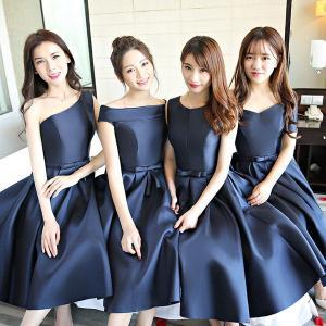 4b145cb3fce68 ネイビードレス ミモレ丈ドレス ネイビードレス 二次会 花嫁 ドレス ワンピース 小さいサイズ ドレス 大きいサイズ ドレス 結婚式 二次会 花嫁  20代 30代 40代
