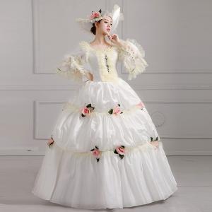 38939d89b2779  サイズ有XS~3XL ホワイトドレス 王族服 貴族服装 オーダーメイド可能 ヨーロッパ風 演出服 パーティードレス ウェディングドレス  パニエ追加可da569f0f0za