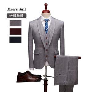1ボタンスリムスーツ ビジネススーツ チェック柄 スーツ フォーマルスーツ カジュアル メンズスーツ春夏 礼服 大きいサイズ シングル 紳士服|fullgrace