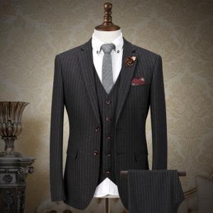 縦縞 ストライプ スリーピース スーツ スリーピース スーツ メンズスーツ ビジネススーツ ベスト付き 紳士服 suit スリムスーツ レギュラースーツdg650f0f0w5|fullgrace