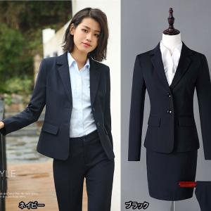 パンツスーツ 大きいサイズ 2点セット スカートスーツ ビジネススーツ ズボンスーツ オフィス ビジネス セットアップ ネイビー ブラック|fullgrace