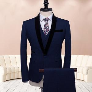 ブルー スーツ 1ボタン メンズスーツ スリーピース スーツ メンズスーツ スリム 大きいサイズ  ビジネススーツ ベスト 紳士服 suit メンズスーツ|fullgrace