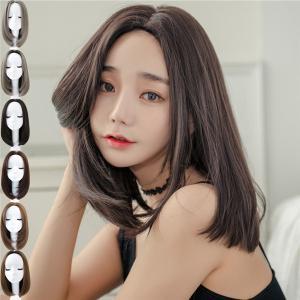 ウィッグ ミディアム フルウィッグ グラデーション 自然 つけ毛 エクステ ウイッグ かつら wig セミロング コスプレ カール ハロウィン レイヤー