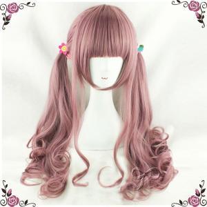 ウィッグ レディース ファッション  lolita 原宿風 オシャレ ロング ツートン フルウィッグ wig ロリータ 耐熱 かつら お出かけウィッグ コスプレdp015s1s1x0|fullgrace