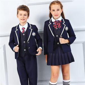卒業式 スーツ 入学式 スーツ 女の子 男の子 スーツ 紺 キッズ パイピングジャケット 卒業式服 フォーマル 女の子 男の子 7点セット 子供 フォーマル|fullgrace