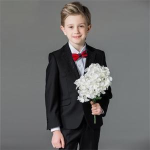 ジュニア スーツ 卒業式 4点セット 英国式 子供服  男の子フォーマル スーツ  ピアノ発表会  結婚式 ブラック dt599f0f0y5|fullgrace