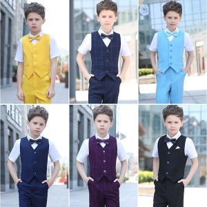 ベストスーツ 卒業式スーツ 4点セット カバーオール 半袖スーツ 男の子 全6色 スーツ キッズ フォーマル 子供 タキシードdt679f0f0f0|fullgrace