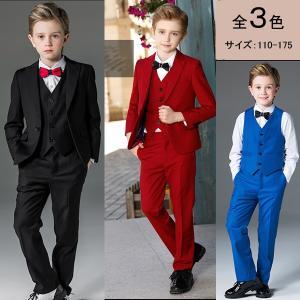 男の子フォーマル ジュニア スーツ ストライプ 卒業式 英国式 子供服 5点セット おしゃれな子ども用 スーツ 大きいサイズ 小さいサイズ|fullgrace