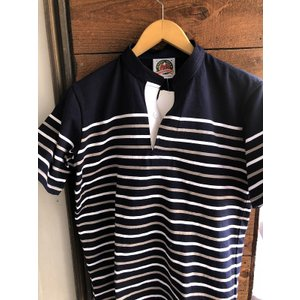 BARBARIAN ヘンリーネックボーダーラガーシャツ|fullnelsonhalf