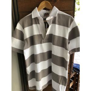 BARBARIAN 半袖ボーダーラグビーシャツ|fullnelsonhalf