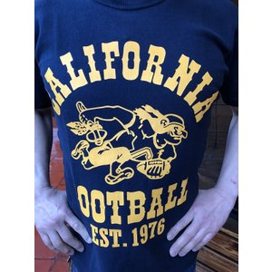 BUDDY別注 Champion リバースウィーブTシャツ 1976 CALIFORNIA FOOTBALL|fullnelsonhalf