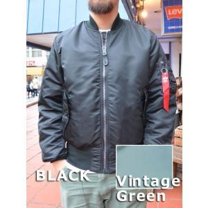 ALPHA MA-1 アメリカ国内モデル 2000 VTG GREEN & BLACK|fullnelsonhalf