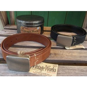 VINTAGE WORKS LEATHER BELT ビンテージワークス レザーベルト DH5524|fullnelsonhalf