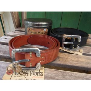 VINTAGE WORKS LEATHER BELT ビンテージワークス レザーベルト DH5536|fullnelsonhalf