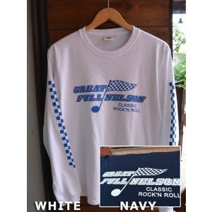 FULLNELSON CHECKER FLAG L/S tee フルネルソンチェッカーフラッグ長袖Tシャツ|fullnelsonhalf