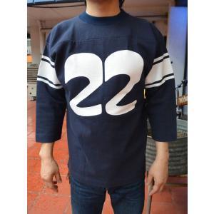 FULLNELSON Football Tee オリジナル ヘビーウェイトフットボールTシャツ 22周年モデルNAVY|fullnelsonhalf