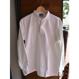 バーバリアン 12オンス ヘンリーネックラガーシャツ BARBARIAN RUGBY WEAR WHITE|fullnelsonhalf