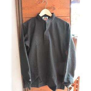 バーバリアン 12オンス ヘンリーネックラガーシャツ BARBARIAN RUGBY WEAR BLACK|fullnelsonhalf