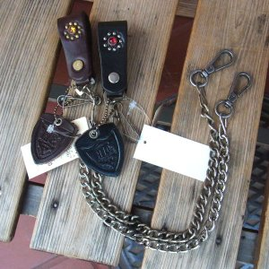 HTC FLOWER LEATHER BIKER'S WALLET CHAIN フラワーレザーバイカーウォレットチェーン|fullnelsonhalf