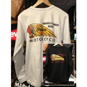 INDIAN MOTORCYCLE インディアンモーターサイクル 長袖Tシャツ IM67737|fullnelsonhalf