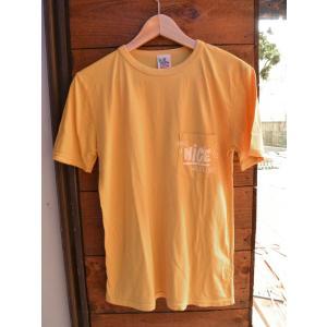 JUNK FOOD NICE S/S tee ジャンクフード ナイスポケットTシャツMustard|fullnelsonhalf
