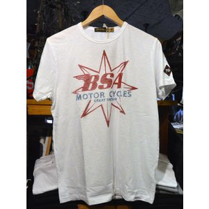 Johnson Motors'Inc BSA STAR S/S tee ジョンソンモータース半袖Tシャツ OPTIC WHITE|fullnelsonhalf