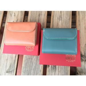 限定カラー OPUS mini Wallet オーパス コンパクト ウォレット ブッテーロレザー PINK& TURQUOISE|fullnelsonhalf