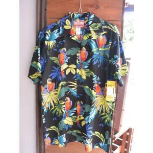 Made in USA Robert J. Clancey Aloha Shirts コットンアロハシャツ Max Payne? Black|fullnelsonhalf