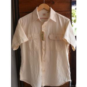 シュガーケーン 半袖シャンブレーシャツSUGARCANE CHAMBRAY S/S SHIRTS WHITE|fullnelsonhalf