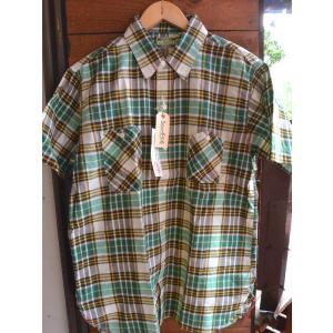 シュガーケーン マドラスチェックシャツ SUGARCANE Light MADRAS CHECK S/S SHIRTS GREEN|fullnelsonhalf